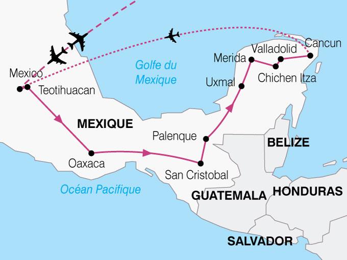 CARTE Mexique Merveilles  shhiver 852249