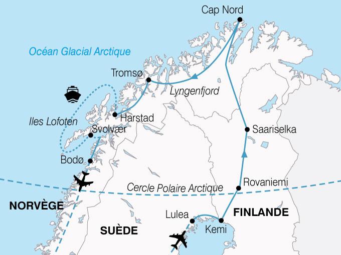 CARTE Norvege Magie Nord  shhiver 668552