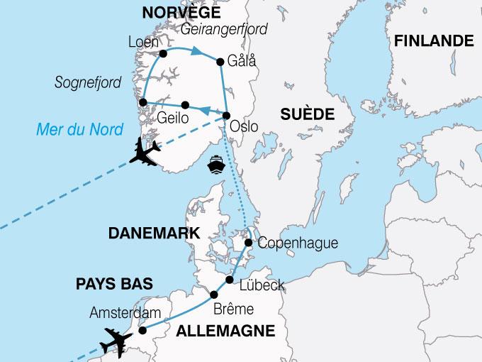 circuit fjord de norvège