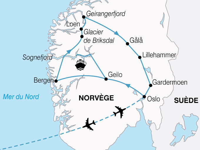 CARTE Norvege Plus Beaux Fjords  shhiver 713657