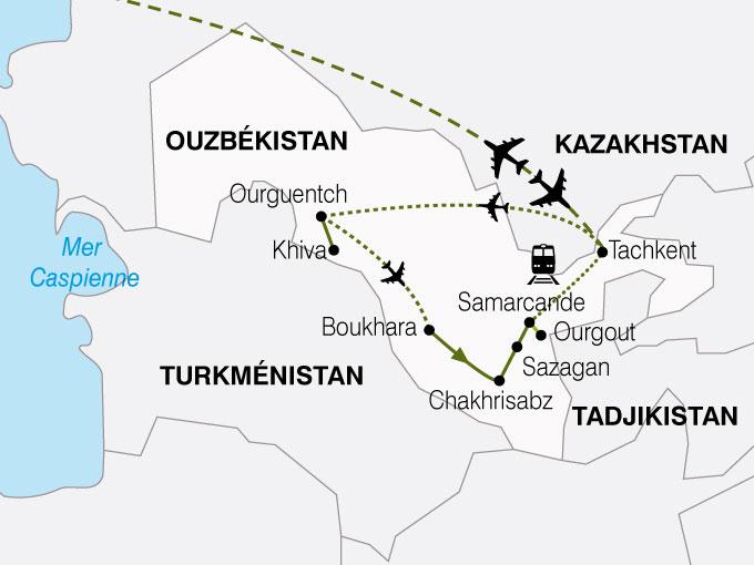 CARTE Ouzbekistan Route Soie  shhiver 279387
