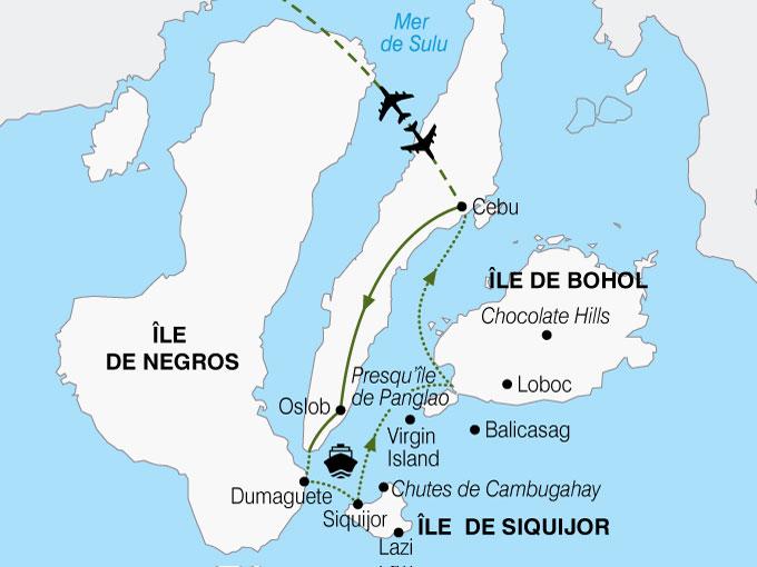 CARTE Philippines Decouverte Visayas  shhiver 269035