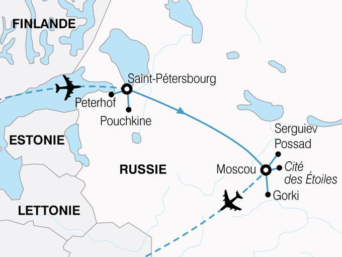 CARTE Russie Splendides Capitales  shhiver 828956