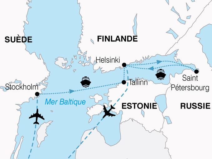 CARTE Scandinavie Joyaux Baltique  shhiver 235029