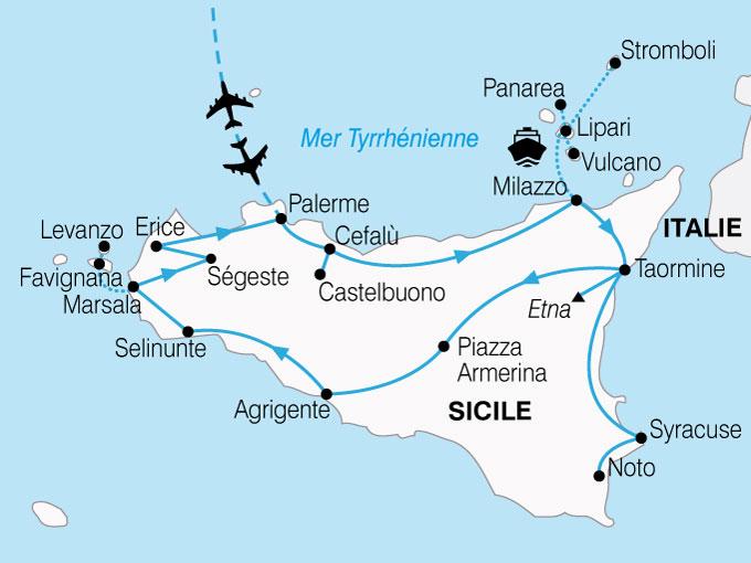 Circuit La Sicile, Au Pied d'un Volcan, Sicile, Italie, Sicile