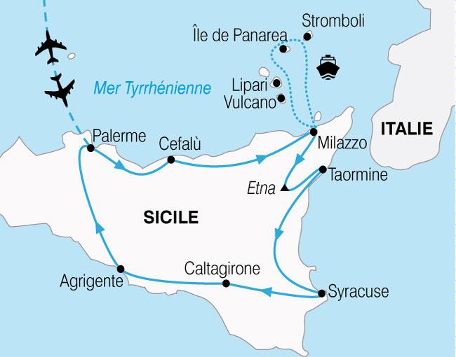 CARTE Sicile Iles Eoliennes  shhiver 850171