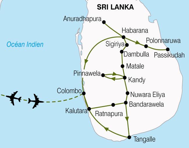 CARTE Sri Lanka Pays De LOr Vert  shhiver 719500
