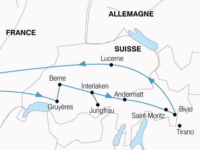 CARTE Suisse Glaciers Trains Montagne  shhiver 211086
