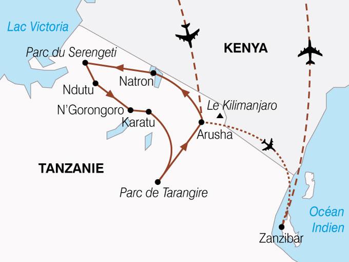 CARTE Tanzanie Zanzibar Splendeurs  shhiver 704267