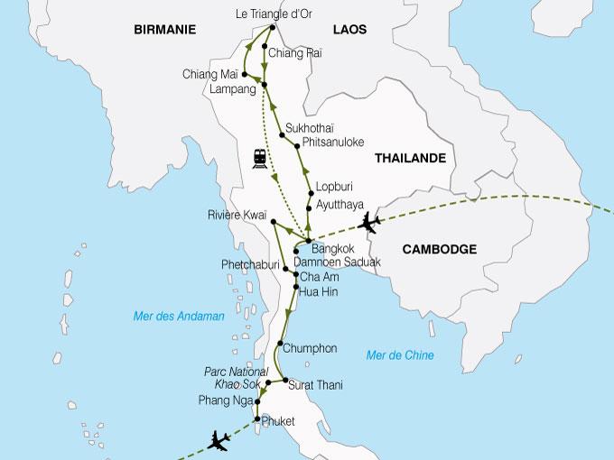 CARTE Thailande Nord Sud  shhiver 331178