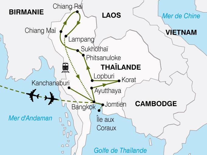 CARTE Thailande Panoramas Thailandais  shhiver 460139