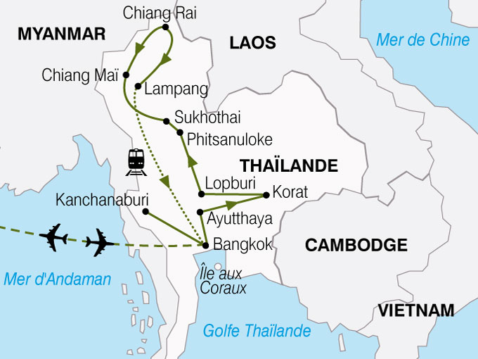 CARTE Thailande Royaume De Siam  shhiver 419356