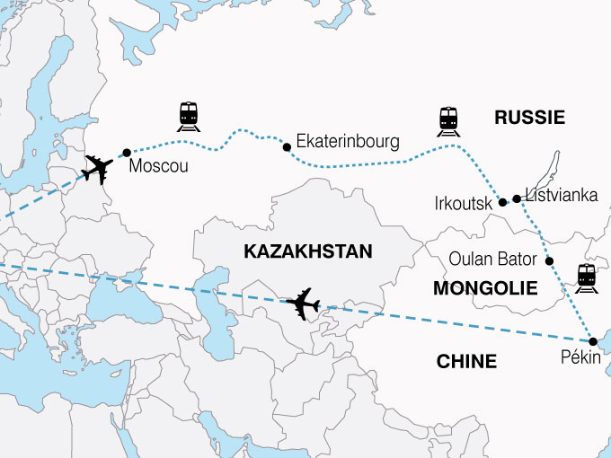 CARTE Transsiberien Russie Mongolie Chine  shhiver 676075