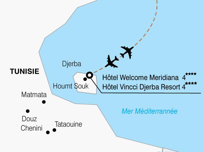 CARTE Tunisie Hotels  shhiver 848953