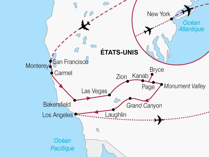 CARTE USA Californie New York  shhiver 170402