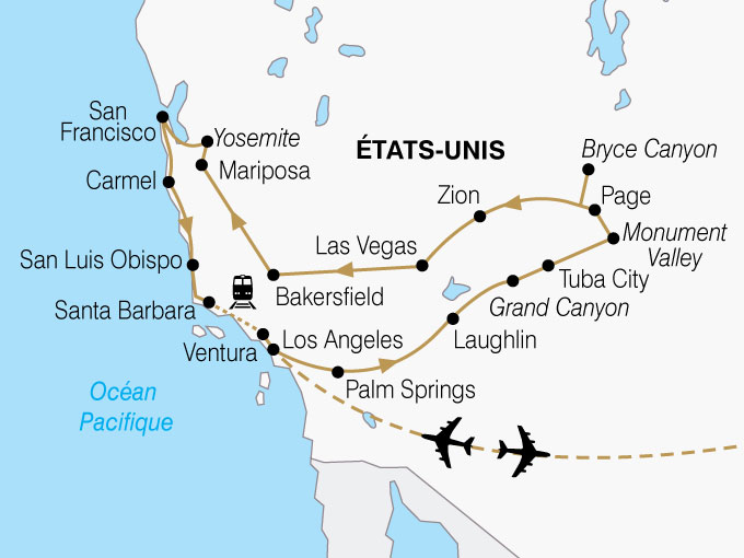 CARTE USA Californie Ouest Americain Premium  shhiver 849273