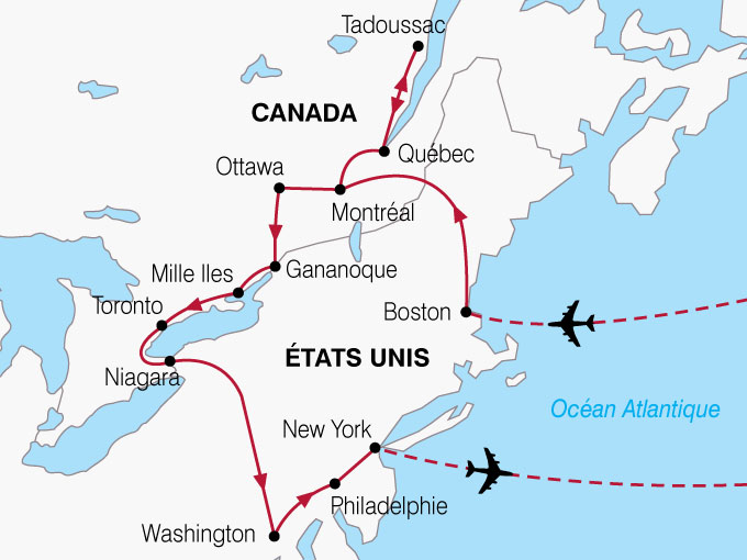 CARTE USA Canada USA  shhiver 889281