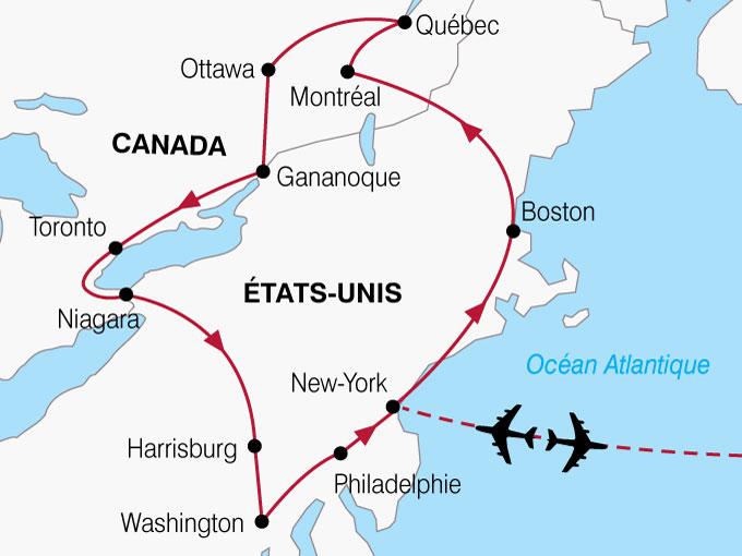CARTE USA Montreal New York  shhiver 123927