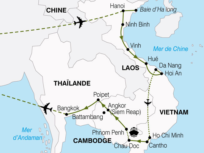 CARTE Vietnam Cambodge Richesses Mekong  shhiver 538616