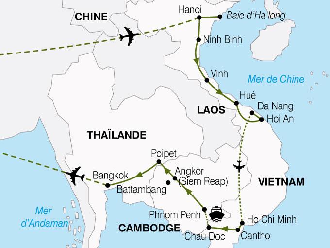 CARTE Vietnam Cambodge Richesses Mekong  shhiver 382207