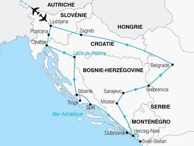 CARTE Yougoslavie Grand Tour  shhiver 654265