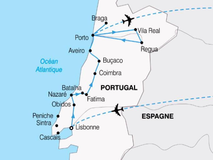 Carte Portugal Le Portugal en tote liberte shhiver 469729