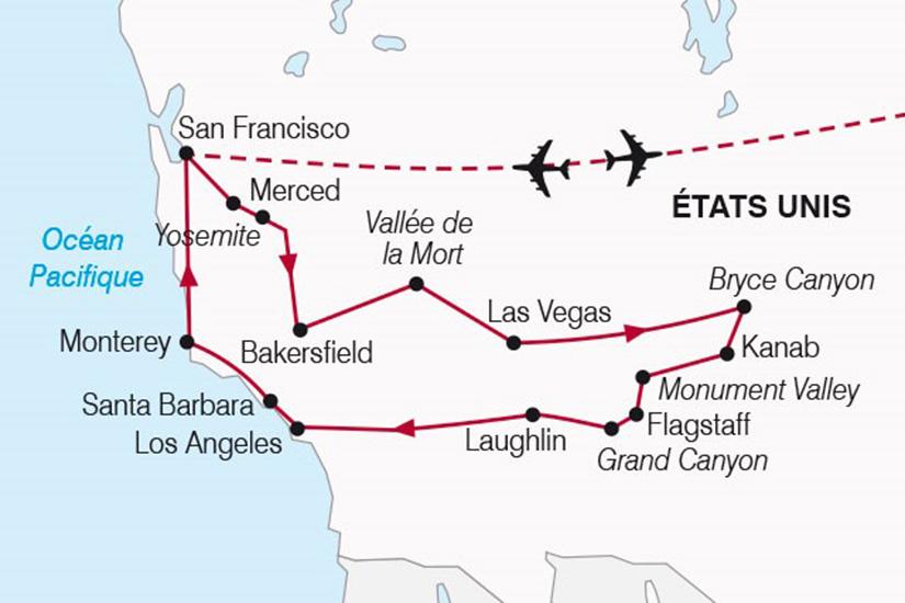 carte A la conquete de l Ouest de San Francisco a Hollywood 517946