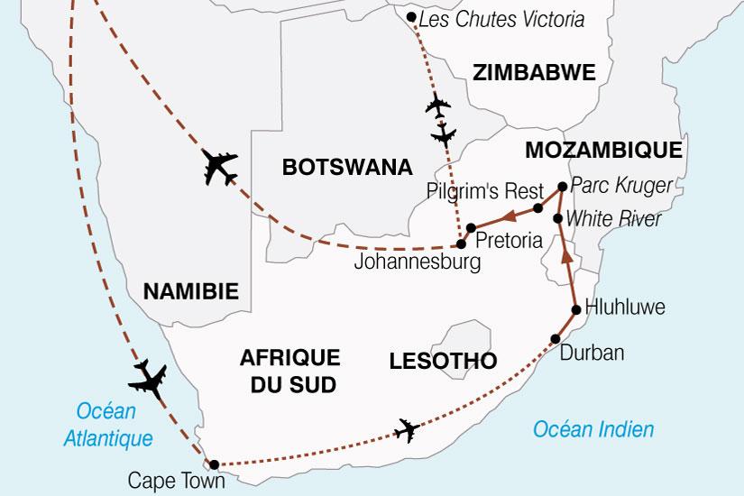 carte Afrique Australe Cap Bonne Esperance Chutes Victoria 351933