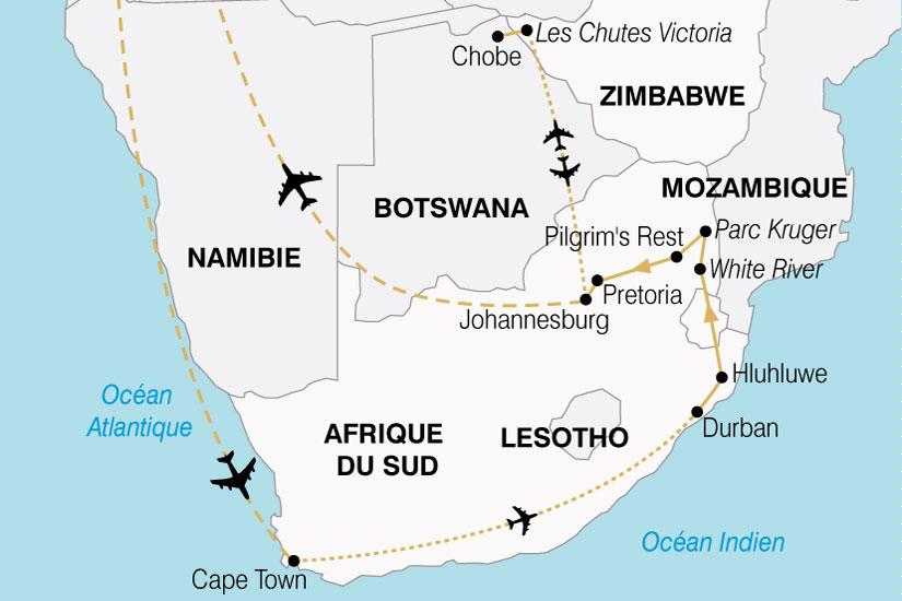 carte Afrique Australe Cap Bonne Esperance Chutes Victoria premium 899247