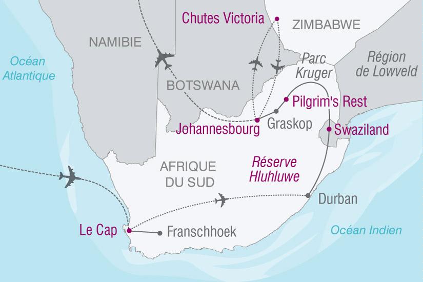 carte Afrique Du Sud Cap Bonne Esperance Chutes 862992
