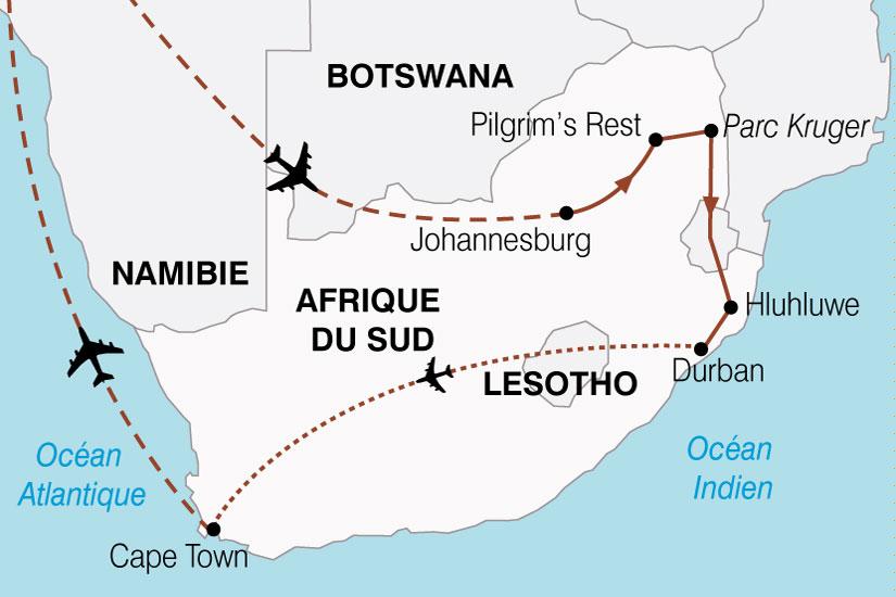 carte Afrique Du Sud Le Monde En Un Pays 307836