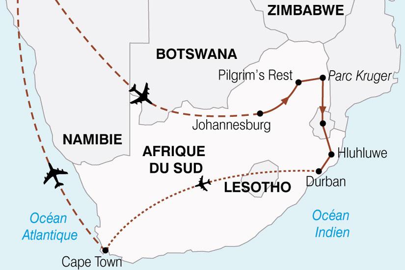 carte Afrique Du Sud Le Monde En Un Pays 576692