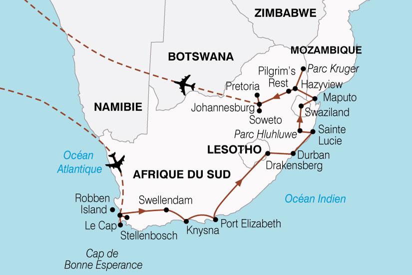 carte Afrique Sud Sur Les Traces Nelson Mendela 438319