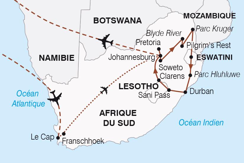 carte Afrique du Sud et le royaume des nuages SH20_339 232872
