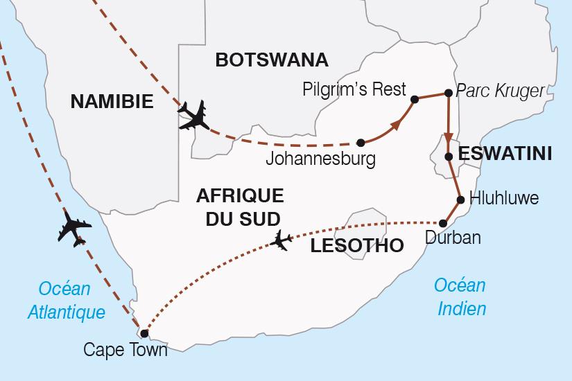 carte Afrique du Sud le Monde en un seul pays SH20_339 308690