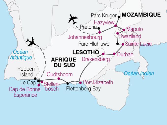 carte AfriqueSud Sur Les Traces Nelson Mendela  nthiver 438319