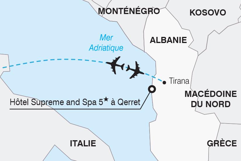carte Albanie Hotel Supreme and Spa 5 a Qerret SH20_339 314546