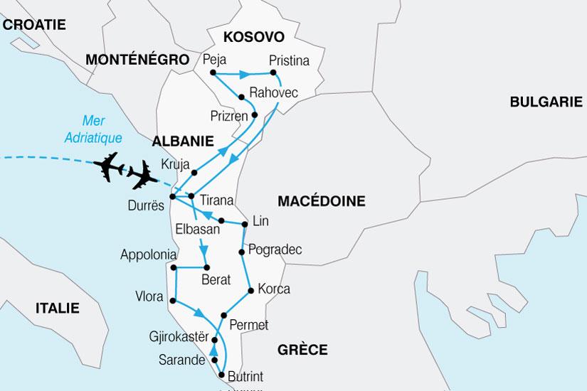 carte Albanie Kosovo 327079