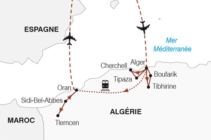 carte Algerie Alger Oran_267 102644