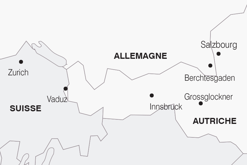 carte Allemagne Autriche Le Tyrol Autrichien SH19 20_319 487901