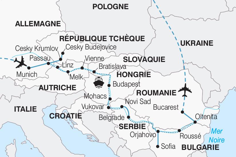 carte Allemagne Le Danube 10 pays au fil de l eau 267 655050