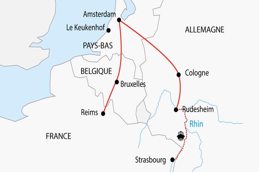 carte Allemagne croisiere fluviale Rhin depart sud 2019_297 378049