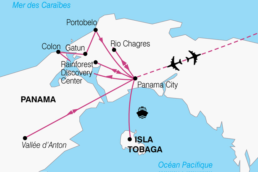 carte Amerique Latine Panama 444328