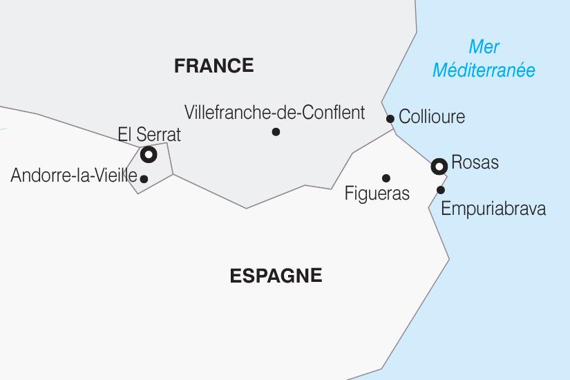 carte Andorre et Rosas des Pyrenees a la Mediterranee SH 21 22_382 353158