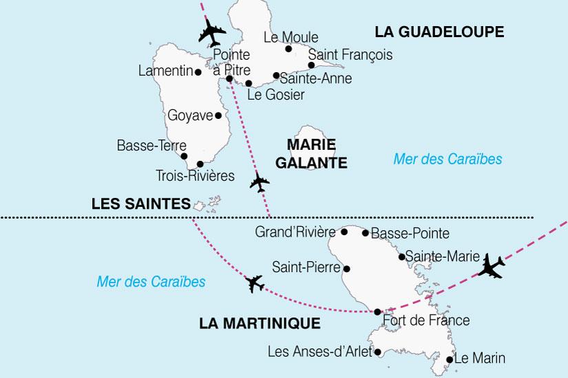 carte Antilles Caraibe Francaise 692949