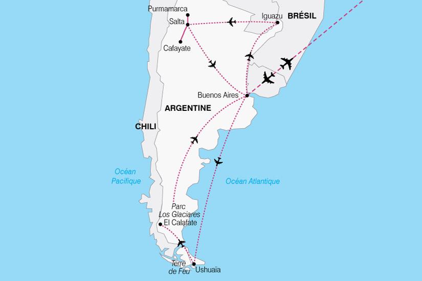 carte Argentine Altiplano Patagonie 564558