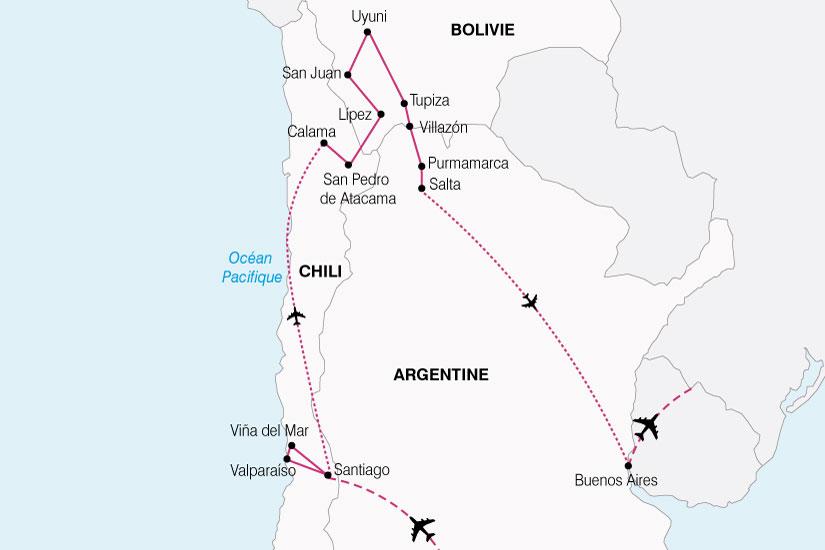 carte Argentine Chili Bolivie 185697