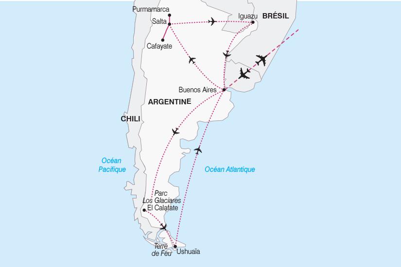 carte Argentine De l Altiplano a la Patagonie SH19 20_319 652347