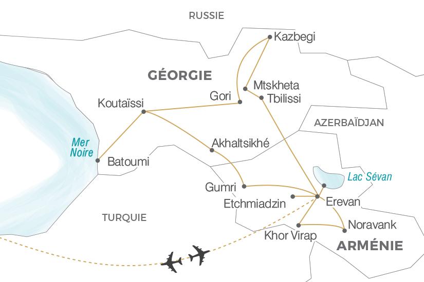 carte Armenie Georgie la memoire du monde Pouchkine Tours 19_286 684021