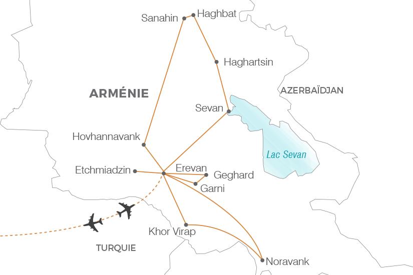 carte Armenie Secrets d Armenie Pouchkine Tours 20_340 821888